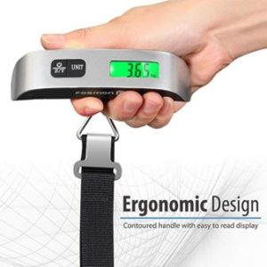 Black No battery needed InTravel Analog Handy Stop /& Lock Luggage Scale