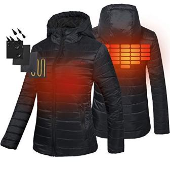 Smarkey Cordless Heated Jacket Carbon Fiber Amazon Com >> Top 15 Best Women S Heated Jackets In 2019 Travel Gear Zone
