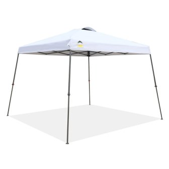 CROWN SHADES Patented 11ft. x 11ft. Slant Leg One Push Up Clia Instant Folding Canopy