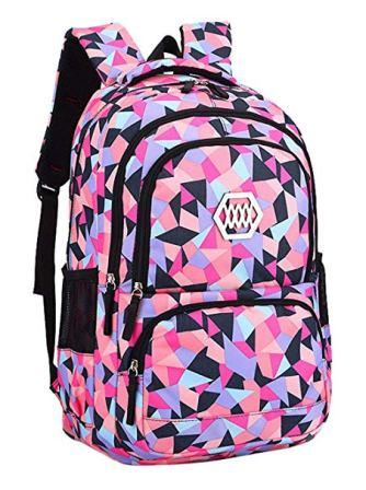 Fanci Geometric Prints Satchel Backpack