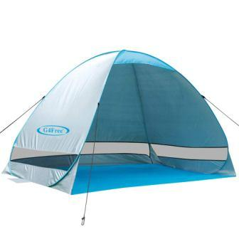 G4Free Outdoor Automatic Pop up Instant Portable Cabana Beach Tent