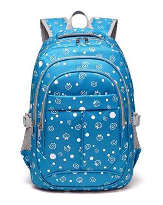 Hearts Print School Backpacks For Girls