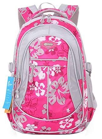JiaYou Girl Flower Printed Backpack – Style A Rose,24 Liters