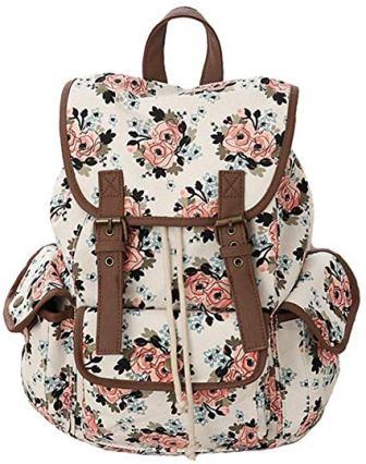 Kenox Canvas School College Backpack