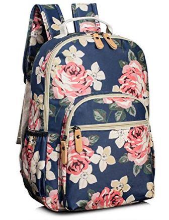 Leaper Floral School Backpack