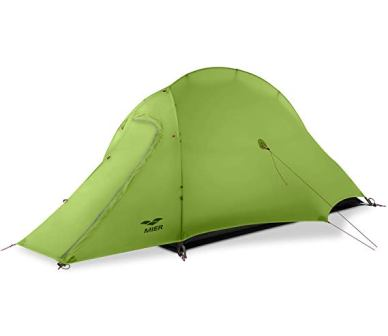 MIER Lightweight 1-Person Tent Easy Setup Outdoor Backpacking Tent