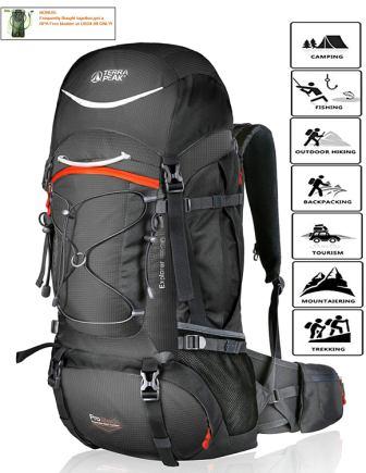 TERRA PEAK Adjustable Hiking Backpack