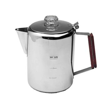 Texsport 9 Cup Stainless Steel Percolator Coffee Maker