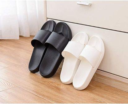 Mens Outdoor Beach Pool Sandals Indoor Home Slides Summer Comfort Flat Slippers
