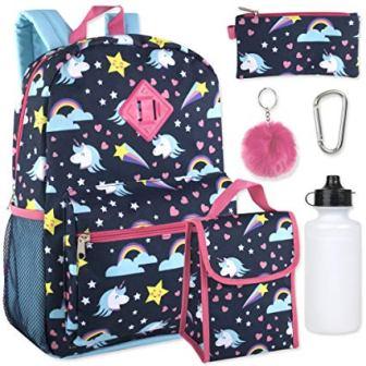 Trail maker Girl's 6 in 1 Backpack Set
