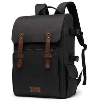 BAGSMART Camera Backpack for SLR/DSLR Cameras & 15.6″ Laptop with Waterproof Rain Cover & Tripod Mount