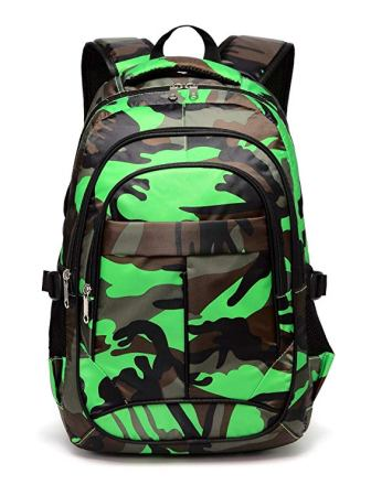 Blue Fairy Camouflage School Backpacks for kids