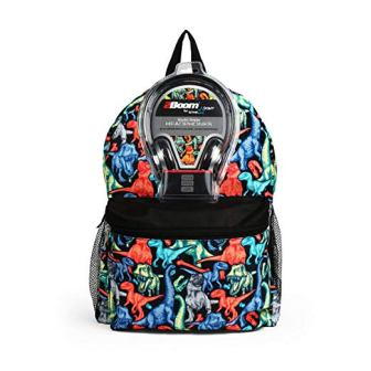 Dinosaur All-over Print Backpack with Headphones