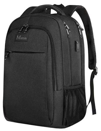 Matein Laptop Backpack with USB Charging Port