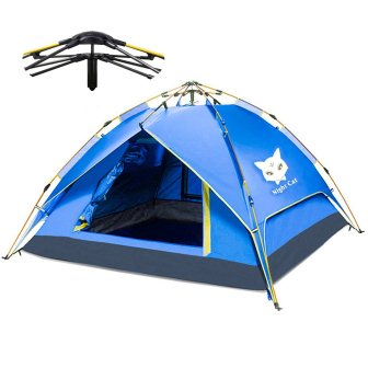 Night Cat Camping and Easy Instant Pop Up Tent