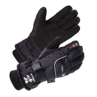 SKYDEER 3M Scotchgard Waterproof Genuine Deerskin Suede Leather Ski Gloves