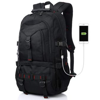 Fashion Laptop Backpack Contains Multi-Function Pockets, Tocode Durable Travel Backpack with USB Charging Port