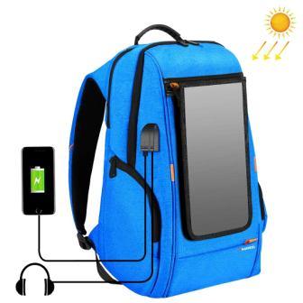 Haweel External Frame Backpack with 7-Watt Solar Panel