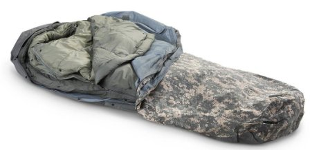Military Outdoor Clothing Previously Issued U.S. G.I. Improved ACU Digital Modular Sleeping Bag System (5-Piece)