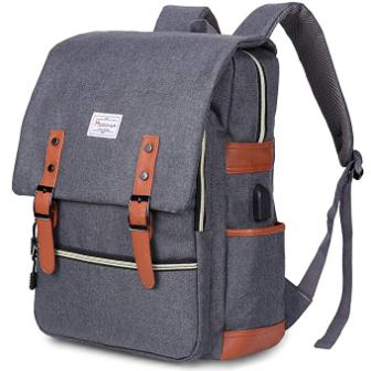 Modoker Vintage Laptop Backpack for Women Men, School College Backpack