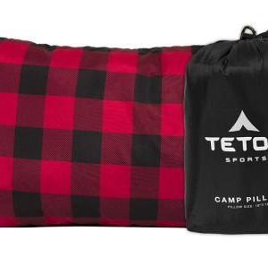 TETON Sports Camp Pillow Perfect for Anytime You Travel; Camping, Backpacking, Airplanes, and Road Trips