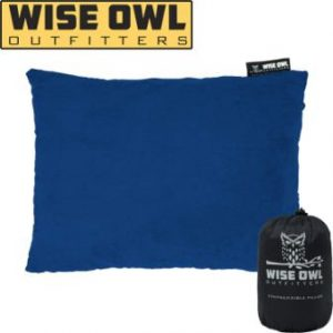 Wise Owl Outfitters Camping Pillow Compressible Foam Pillows – Use When Sleeping in Car, Plane Travel