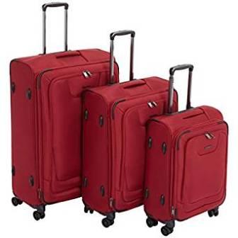 AmazonBasics 3-piece Softside Luggage Set
