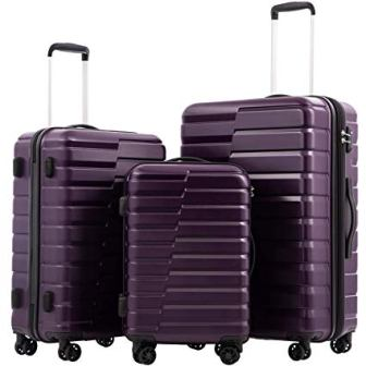 Coolife PC+ABS 3-piece Luggage Set