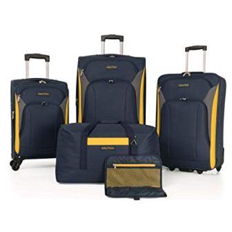 Nautica Luggage Set in Yellow/Navy