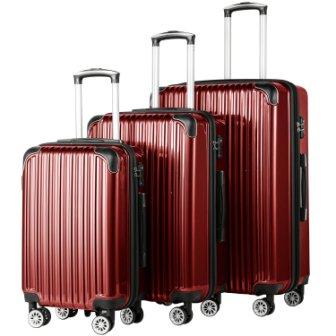 Coolife Expandable Suitcase 3 Piece Set