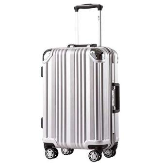 Coolife Luggage Aluminium Frame Suitcase