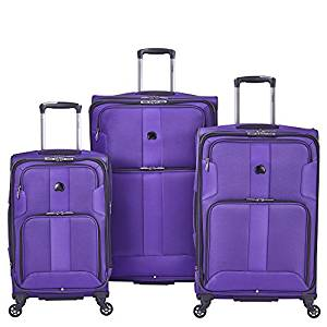 Delsey Paris Luggage Sky Max 3 Piece Spinner Suitcase Set