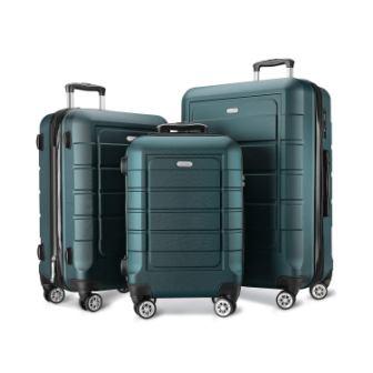 SHOWKOO Expandable Suitcase Set
