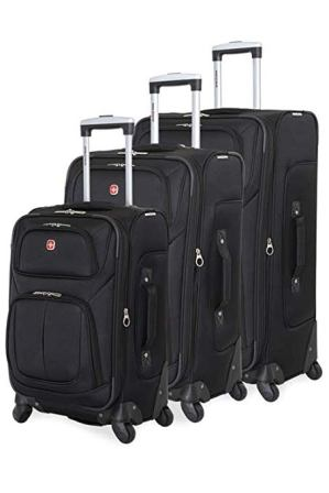SWISSGEAR 6283 Amazon Exclusive 3pc Spinner Luggage Set