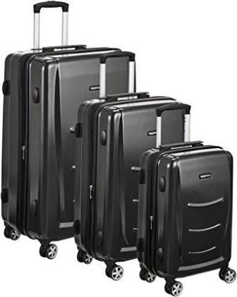 AmazonBasics Hardshell 3-piece Spinner Luggage Set in Slate Grey