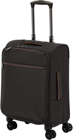 AmazonBasics Heathered Belltown Softside Luggage Spinner
