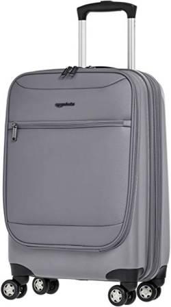 AmazonBasics Hybrid Hard-Softside Spinner Suitcase