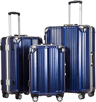 Coolife Aluminium Suitcase