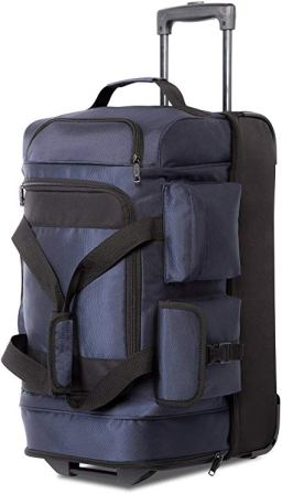 Coolife Rolling Duffel Luggage-8 Pockets