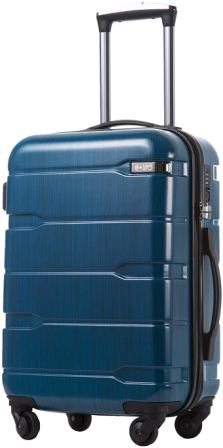 Coolife Suitcase With ABS+PC Spinner Luggage