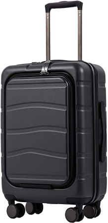 Coolife Suitcase with Laptop Compartment Luggage