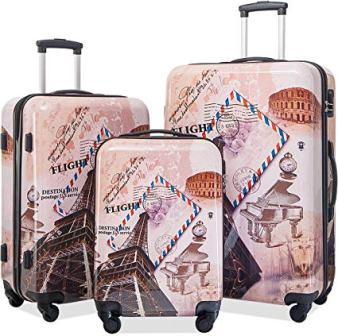 Flieks 3-Pc Lightweight Hardside Luggage Set