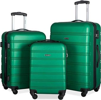 Merax 3-Pc Lightweight Hardshell Luggage Set