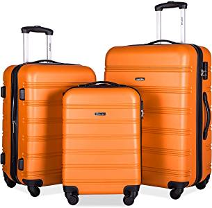 Merax Upgraded 3-Pc Lightweight Expandable Luggage Set