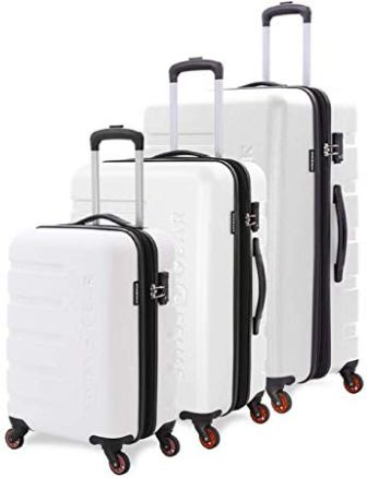 SwissGear 3-pc 7366 Expandable Hardside Spinner Set (White)