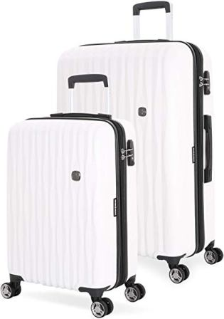 SwissGear 7272 Polycarbonate Hardside Luggage Collection (White, 2-piece)