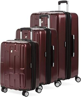 SwissGear 7796 3-Piece Expandable Hardside Spinner Luggage (Tawny)