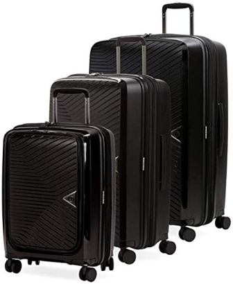 SwissGear 8836 Polypropylene Durable Expandable Spinner 3-piece Luggage Set