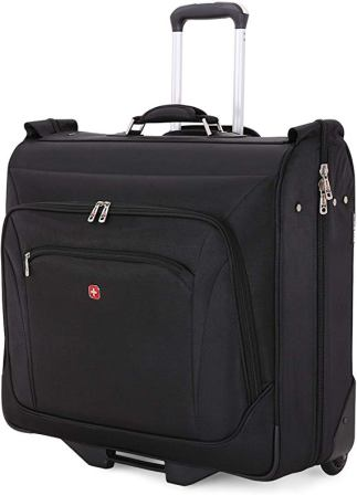 SwissGear Full-Sized Effortless Folding Wheeled Garment Bag (Black)