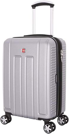 SwissGear Vaud 19-inch Hardside Spinner Luggage (Silver)